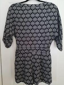 Diane 428 Romper Size In Soleil Nwt 6 Von Kyoto Furstenberg Black 4WnT71qwU