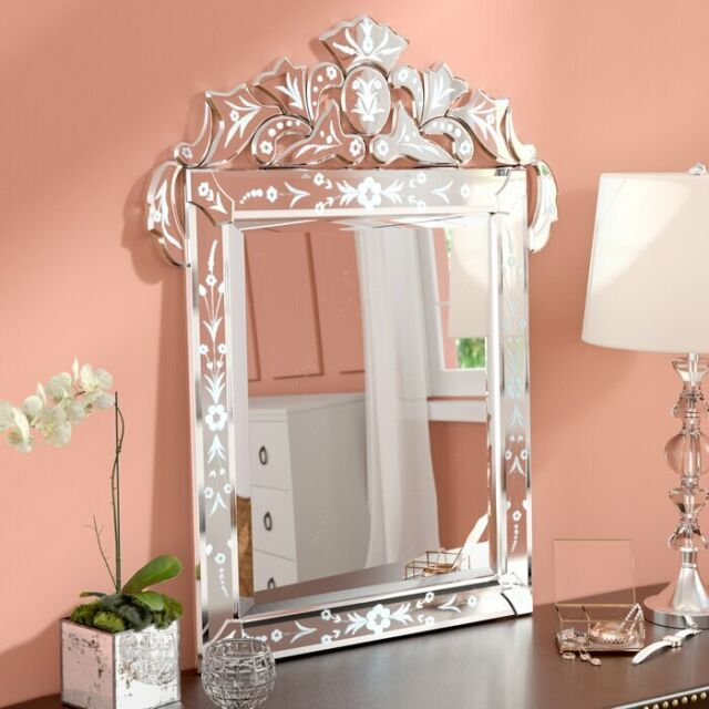 Framed Wall Mirror Glass Accent Bedroom Hallway Home Bath Gold Decorative 2 Set For Sale Online Ebay