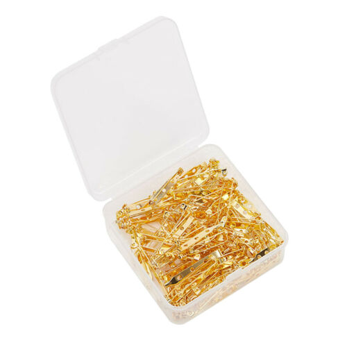 100Pcs Brooch Backs Safety Pins Catch Findings 22//26//33//40mm Bar for Badges