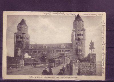 Hohe Belastbarkeit brückenkopf Hohenzollernbrücke- europa:11395 Gelaufene Ansichtskarte Köln