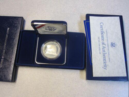 Case w//COA Constitution 200 Anniv Proof Silver Dollar Orig Comm 1987 U.S