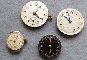 Mix-of-ladies-gents-vintage-watch-movements-for-repair-Rone-Terminus-etc