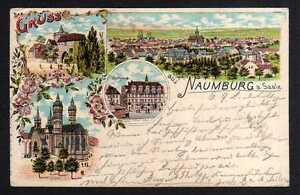 99622-AK-Naumburg-Saale-1901-Litho-Dom-Rathaus-Marientor