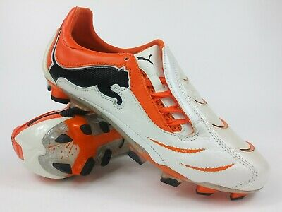Intrusión Cementerio Novelista  Puma Mens Rare PowerCat 1.10 FG White Orange Soccer Cleats Boots Size 9.5  885116503801 | eBay