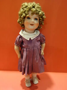 All-Original-1938-CARL-BERGNER-Shirley-Temple-Composition-Doll-Germany-Rare