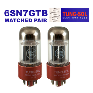 Tung-Sol 6SN7GTB Preamp Vacuum Tube Matched Pair