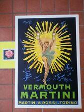 MARTINI  VERMOUTH  POSTER  LITOGRAFIA  ORIGINALE CAPPIELLO - ANNO '55 CIRCA