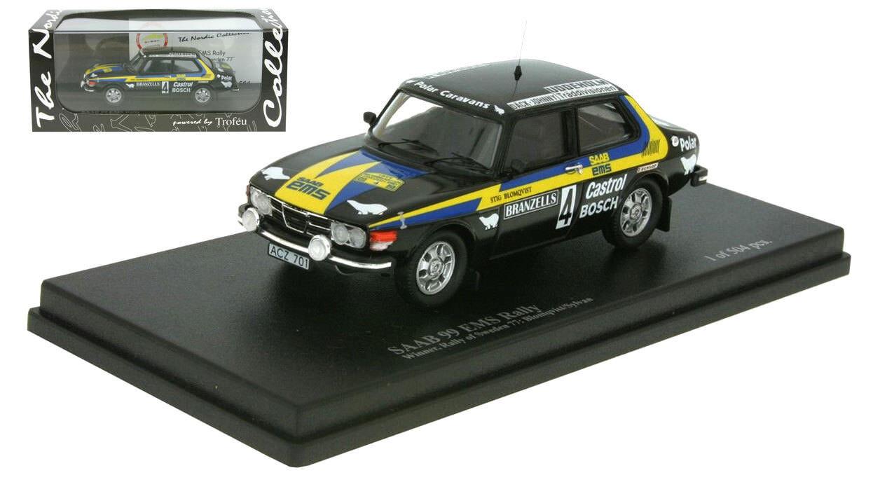 Trofeu Saab 99 EMS Vincitore Rally Svezia Rally 1977-Stig Blomqvist 1 43 SCALA