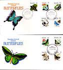 1983 Australian Animal Series III Butterflies on 2 FDC's - Maroubra NSW 2035 PMK