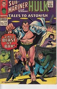 Tales-to-Astonish-Sub-Mariner-and-The-Incredible-Hulk-84-1966-VFN-Silver-Age