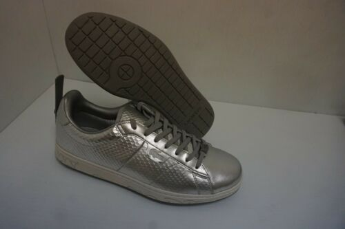 Casual 13 Chaussures Lacoste Veau Usa Taille Argent Soie Hommes cJl1TKF