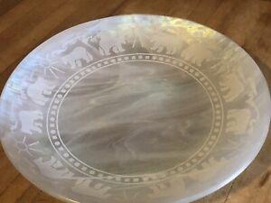 Dru Malone Alaskan Art Glass Plate 7 1 2 Inch Ebay