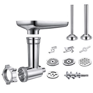 Stainless-Steel-Meat-Grinder-Food-Chopper-Attachment-For-Kitchenaid-Stand-Mixer