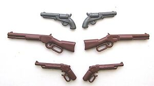 BrickArms-WESTERN-PACK-6-Guns-Weapons-for-Lego-Minifigures-NEW-Cowboys-Civil-War