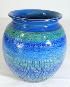 Vase-boule-ALDO-LONDI-en-ceramique-BITOSSI-Riminu-blu