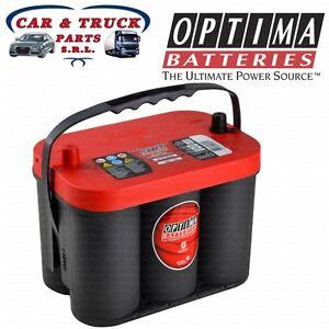 rtc4 2 batteria originale optima red top 50ah 815a fiat freemont jeep wrangler ebay