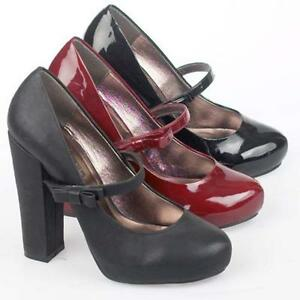 LADIES-HIGH-HEELS-COURT-SHOES-WOMENS-OFFICE-SMART-WORK-BLACK-MARY-JANE-SHOE-SIZE