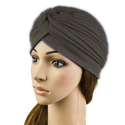 Stretchy Turban Head Wrap Band Chemo Bandana Hijab Pleated Indian Cap