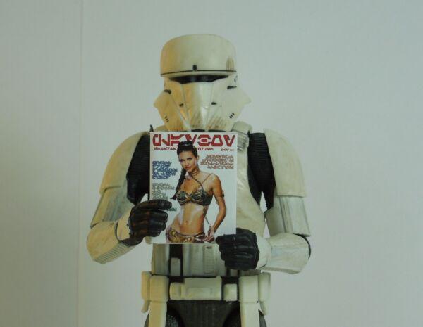 1/12 Scale Custom Playboy-style Star Wars Magazine Slave Leia-pas De Pages Vierges
