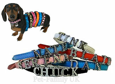 Personalizzata Dog Puppy Cat Pet Collar Xs S M 8 Mm Lettere Libero (fino A 6) Nuove-mostra Il Titolo Originale