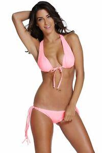 DEAR LOVER Bikini rosa costume donna due pezzi a  Fascia