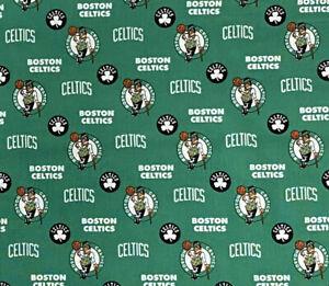 Nba Boston Celtics 100 Cotton Fabric 9 X44 Quarter 1 4 Yard Basketball Green Ebay