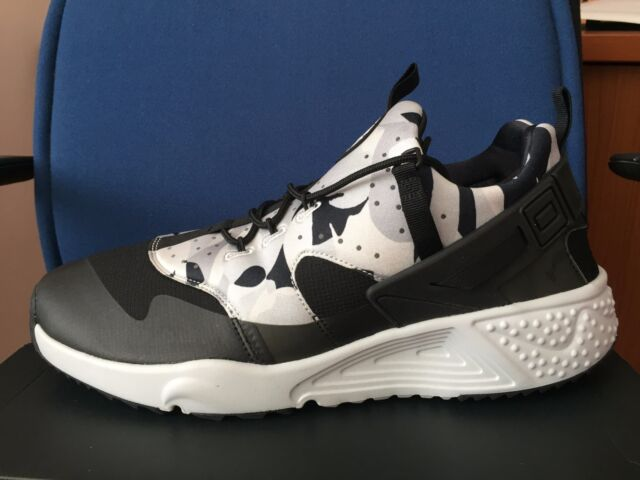 b0c8c075f3db Frequently bought together. Nike Air Huarache Utility CAMO sz 15 Black  White Grey Mens Run Shoes 806807-001