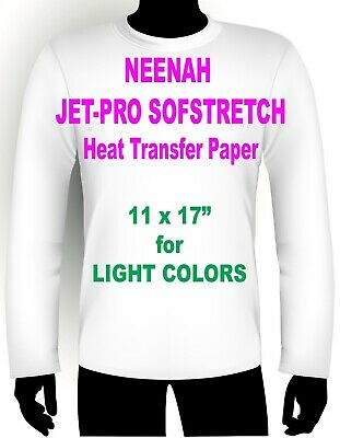 "INKJET IRON ON HEAT TRANSFER PAPER NEENAH JETPRO SOFSTRETCH 11 x 17/"" 250 PK"