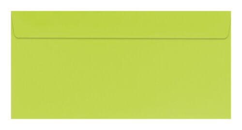 Farbe 50 farbige Briefumschläge hellgrün Din lang
