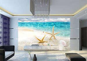Seastar Beach Aquarium Full Wall Mural Photo Wallpaper Print Kids ...