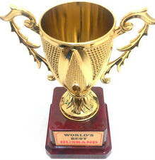 Worlds Best Husband Trophy Birthday Anniversary Karwa Chaut Gift Quirky Small
