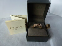 Clogau Welsh Gold, 9ct Yellow & Rose Gold Cariad Ring, size M