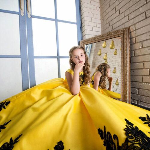 Enfants Filles Fleur Bébé Princesse Robe Longue formelle Pageant fête de mariage robe de