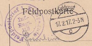Feldpostbrief-1-Kompagnie-Inf-Regt-118-17-2-17-Prinz-Carl-4-Grossherzogl
