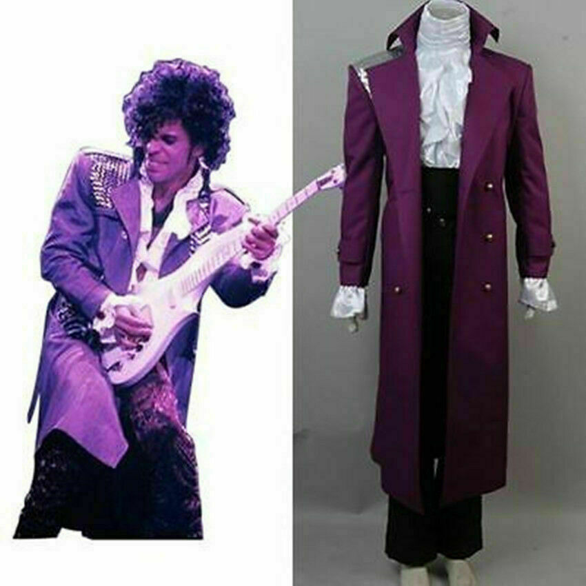 NEW Prince Rogers Nelson Purple Rain Party Suit Outfit Cosplay Costume custom