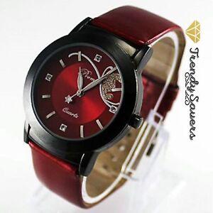 Women-039-s-Ladies-Girls-Butterfly-Fashion-Leather-Dress-Analog-Quartz-Wrist-Watch