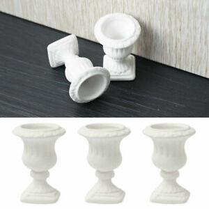 2PC-1-12-Miniature-Dollhouse-White-Pottery-Flowerpot-Toy-Decor-PRO-Home-Gar-U8W9