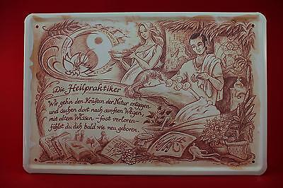 Blechschild Die Heilpraktiker 20x30 Cm Berufschild Blechschilder 56 Wir Nehmen Kunden Als Unsere GöTter