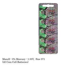 Maxell 371 SR920SW SR920 Silver Oxide Watch Batteries (40Pcs)