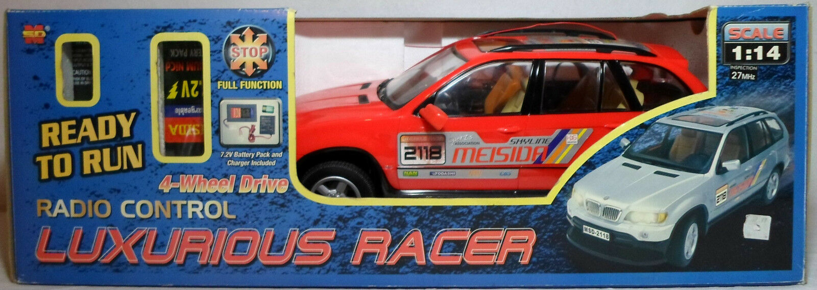 MSD VTG 90's LUXURIOUS RACER 4WD 1:14 13'' 27 Mhz R/C MIB WORKING HTF RARE NEW