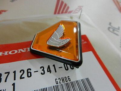 New Discontinued Genuine Honda Left Side Cover Emblem 72-76 CB750 K Orange #Q86
