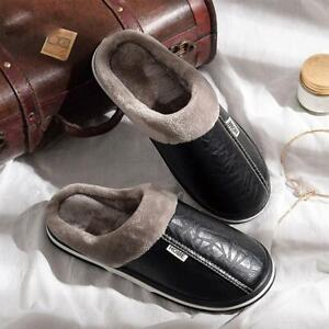Men-039-s-Womens-Winter-Warm-Home-Slippers-Indoor-Flats-Comfy-Close-Toe-House-Shoes