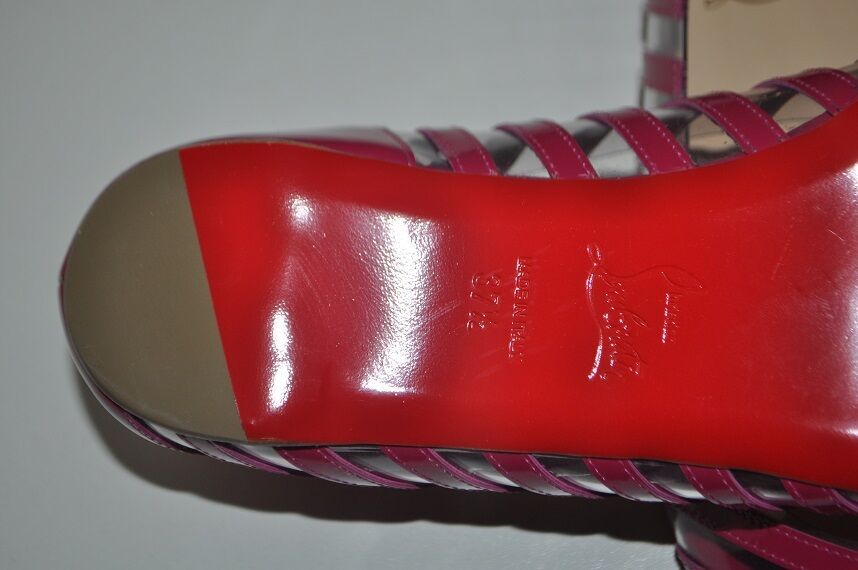 NIB CHRISTIAN schuhes LOUBOUTIN A6 PVC Specchio PINK/clear Open-toe Flat schuhes CHRISTIAN 37.5 - 7 b63e11