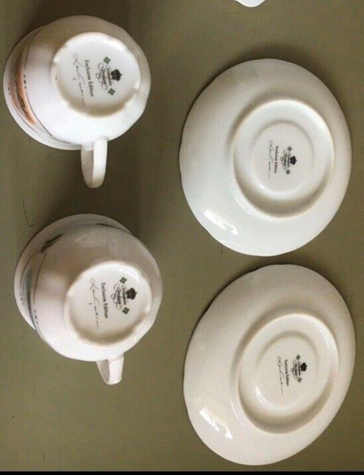 2 kaffe kopper med underkop