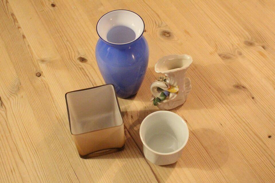 Glas, Vaser og potteskjulere