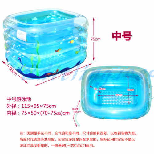 Baby Kids Inflatable Swimming Bath Pool with Foot Air Pump Pit Balls Buoy Ect.