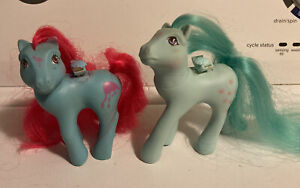My Little Pony vintage G1 Tropical Breeze and Peach Blossom flutter ponies 1987