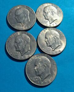 Collection-de-5X-Pieces-de-Monnaie-USA-Dollar-Washington-Quarter-1999-gt-2008