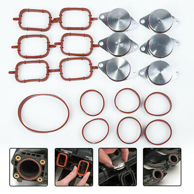 1set 33mm Swirl Flap Blank Bungs /& Manifold Gaskets For BMW E46 E53 E60 E61 E90