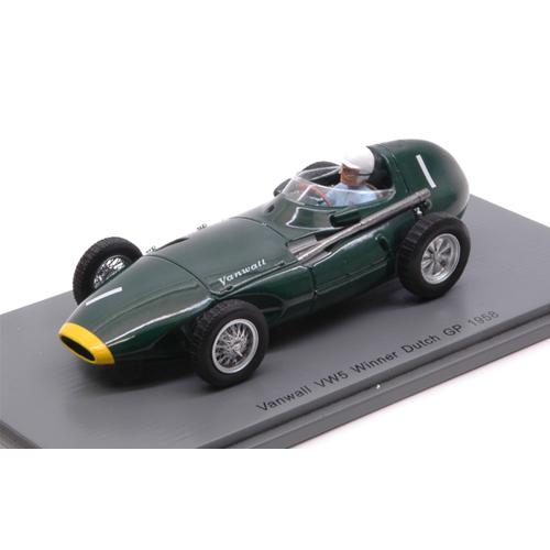 VANWALL VW57 STIRLING MOSS 1958 N.1 WINNER DUTCH GP 1:43 Spark Model Formula 1